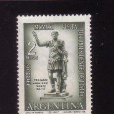 Sellos: ARGENTINA 638* - AÑO 1961 - VISITA DEL PRESIDENTE ITALIANO GRONCHI. Lote 147659858