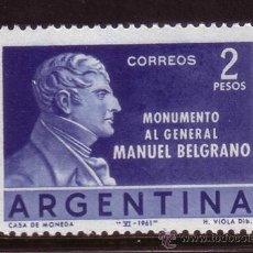 Sellos: ARGENTINA 645*** - AÑO 1961 - INAUGURACIÓN DEL MONUMENTO AL GENERAL BELGRANO. Lote 147659770