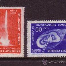 Sellos: ARGENTINA AEREO 106/07*** - AÑO 1965 - CONQUISTA DEL ESPACIO - INVESTIGACIONES ESPACIALES. Lote 36204878