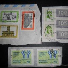 Sellos: 10 SELLOS ARGENTINOS USADOS Y SELLADOS - 2 CAMPEONATO MUNDIAL DE FUTBOL 1978. Lote 40182636