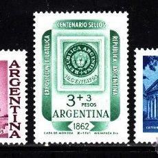 Sellos: ARGENTINA 649/51** - AÑO 1961- CENTENARIO DEL SELLO - CATEDRALES DE CORDOBA Y DE BUENOS AIRES. Lote 41355018