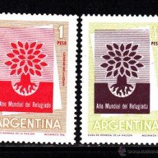 Sellos: ARGENTINA 616/17* - AÑO 1960 - AÑO MUNDIAL DEL REFUGIADO. Lote 41497731