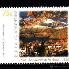 Sellos: ARGENTINA 2010** - AÑO 1998 - CENTENARIO DE LA CIUDAD SAN MARTÍN DE LOS ANDES. Lote 42396559