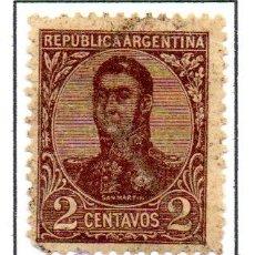 Sellos: ARGENTINA.- SELLO YVERT Nº 134, EN USADO. Lote 45061201