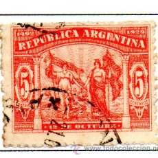 Sellos: ARGENTINA.- SELLO YVERT Nº 324, EN USADO. Lote 45067559
