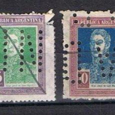 Sellos: 4 SELLOS NUEVOS PERFORADOS REPÚBLICA ARGENTINA. GRAL. JOSÉ DE SAN MARTIN. AÑOS 1923-24.. Lote 45467091