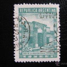 Sellos: ARGENTINA 1943, CASA DE LA INDEPENDENCIA DE TUCUMAN, YVERT 436 . Lote 45488371