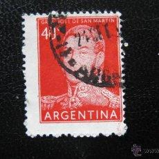 Sellos: ARGENTINA 1956, GENERAL SAN MARTIN, YVERT 568. Lote 45552824