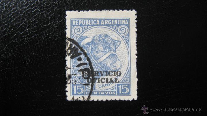 ARGENTINA 1938, SELLO DE SERVICIO, YVERT 343 (Sellos - Extranjero - América - Argentina)