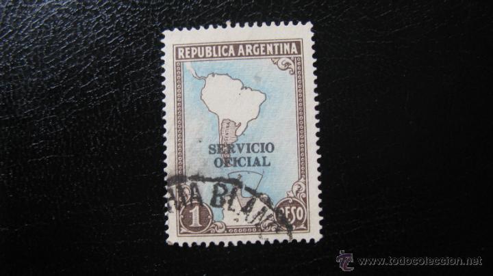ARGENTINA 1938, SELLO DE SERVICIO, YVERT 348 (Sellos - Extranjero - América - Argentina)