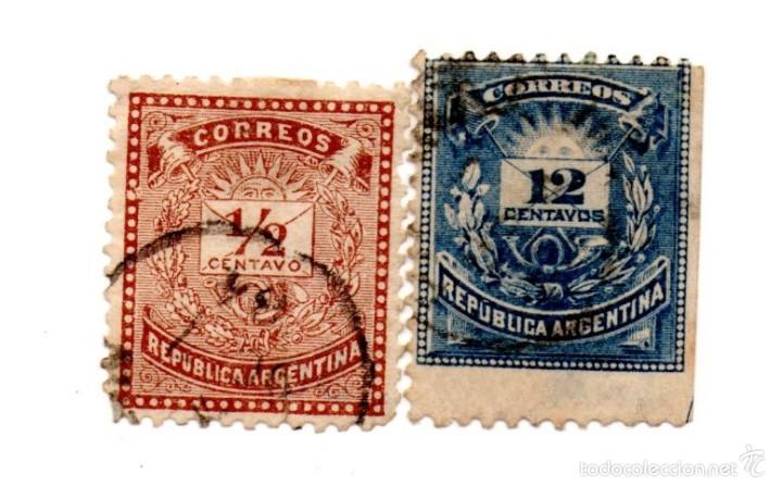 argentina 1882- serie 44/46-letra y post dieci - Comprar Sellos ...