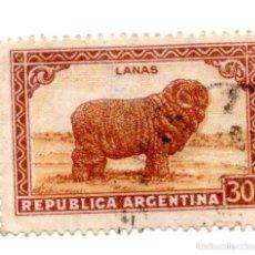 Sellos: ARGENTINA 1936/42-N-429--GANADERIA-MARRON ANARANJADO -USADO. Lote 56186794