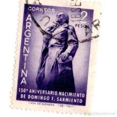 Sellos: ARGENTINA 1961-N.808-PERSONALIDADES- VIOLETA-USADO. Lote 56278301