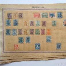 Sellos: ANTIGUA COLECCION SELLOS ARGENTINA, (SE COMPONE DE 8 FOLIOS, VER FOTOS). Lote 57956060