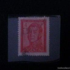 Sellos: ARGENTINA 4 PESOS GENERAL JOSE DE SAN MARTIN --- 1961 -- USADO.. Lote 58553102