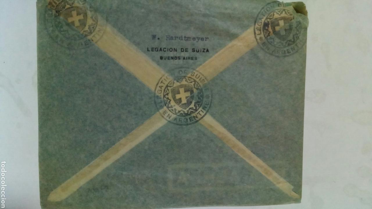 Sellos: Argentina dos sobres circulados de Argentina a Suiza vía aérea por B. S. A. A. - Foto 2 - 74331646
