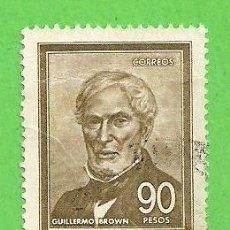 Sellos: ARGENTINA - MICHEL - 967I - YVERT 783 - ALMIRANTE GUILLERMO BROWN, 1777-1857. (1967).. Lote 74382043