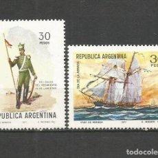 Sellos: ARGENTINA YVERT NUM. 1096/1097 ** SERIE COMPLETA SIN FIJASELLOS. Lote 206803872
