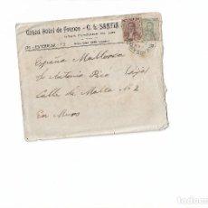 Sellos: SOBRE CIRCULADO+CARTA A MANO GRAND HOTEL FRANCE BUENOS AIRES ENERO 1918. MALLORCA. Lote 78340877