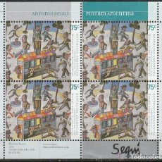 Sellos: ARGENTINA.2003. B/4. PINTORES. ANTONIO SEGUI. **MNH. Lote 82065908