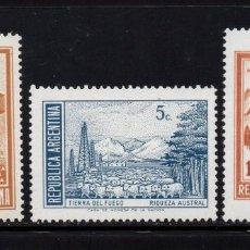 Sellos: ARGENTINA 912/14** - AÑO 1972 - PAISAJES - DEPORTES DE INVIERNO. Lote 95507211