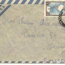Sellos: 2 SELLOS ARGENTINA 1943 EN SOBRE CIRCULADO DIRIGIDO AL PERIODISTA IBRAHIM DE MALCERVELLI BILLELCHOR. Lote 97512995