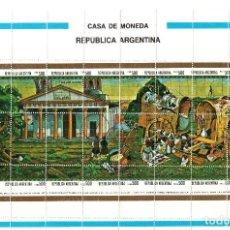 Sellos: PLIEGO DE VIÑETAS CASA DE LA MONEDA. Lote 97990279