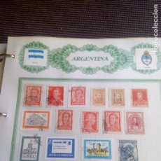 Sellos: ARGENTINA LOTE DE 16.SELLOS EN HOJA REIPER. Lote 98561939