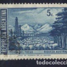 Sellos: S-0837- REPUBLICA ARGENTINA. TIERRA DE FUEGO. RIQUEZA AUSTRAL.. Lote 98698783