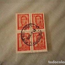 Sellos: ARGENTINA 4 SELLOS DE 20 PESOS GRAL JOSÉ DE SAN MARTÍN. Lote 98719251