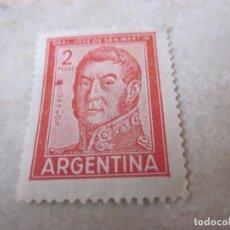 Sellos: SELLO 2 PESOS ARGENTINA - GRAL. JOSE DE SAN MARTIN. Lote 105576043