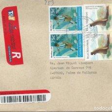 Sellos: AÑO 1995. SOBRE CIRCULADO. INTERESANTE FRANQUEO DEPORTES, FAUNA, NATURALEZA. VER FOTO REVERSO.. Lote 125143715