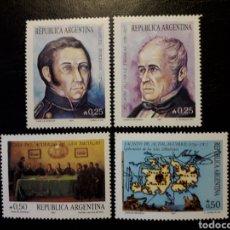 Sellos: ARGENTINA. YVERT 1602/05. SERIE COMPLETA NUEVA SIN CHARNELA. HECHOS HISTÓRICOS. Lote 127600791