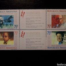 Sellos: ARGENTINA. YVERT 1855/8. SERIE COMPLETA NUEVA SIN CHARNELA. PERSONAJES. INVENTORES ARGENTINOS. Lote 127600923