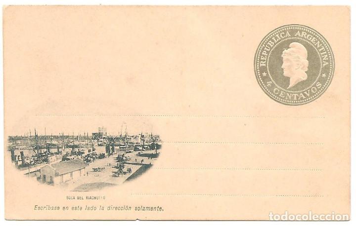 ENTERO POSTAL 4 CENTAVOS - IMAGEN BOCA DEL RIACHUELO - SIN CIRCULAR (Sellos - Extranjero - América - Argentina)