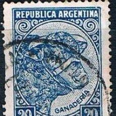 Sellos: SELLO USADO ARGENTINA 1936 YVES 376 AZUL VER. Lote 144406854