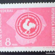 Sellos: 1965 ARGENTINA DÍA DE LA POLICÍA FEDERAL. Lote 146165566