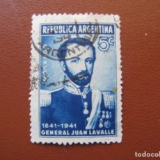 Sellos: ARGENTINA, 1941* GENERAL LAVALLE. Lote 146229738