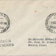 Sellos: 1952. ARGENTINA. MATASELLOS/POSTMARK. CONFª PLENIPOTENCIARIA TELECOMUNICACIONES. TELECOMMUNICATIONS.. Lote 147553578