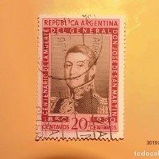 Sellos: ARGENTINA - CENTE. MUERTE DEL GENERAL JOSE DE SAN MARTIN.. Lote 148260418