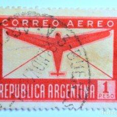 Sellos: SELLO POSTAL ARGENTINA 1940, 1 PESO, CORREO AEREO, CIRCULALDO. Lote 149340762