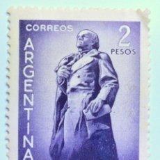 Sellos: SELLO POSTAL ARGENTINA 1961, 2 PESOS, 150 ANIVERSARIO NACIMIENTO DE DOMINGO F. SARMIENTO. Lote 149355486