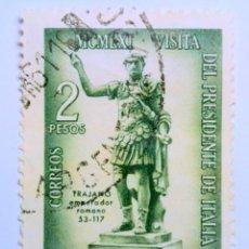Sellos: SELLO POSTAL ARGENTINA 1961, 2 PESOS, MCMLXI VISITA DEL PRESIDENTE DE ITALIA, CIRCULADO. Lote 149366754
