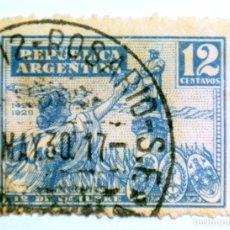 Sellos: SELLO POSTAL ARGENTINA 1929, 12 CENTAVOS, 437 ANIVERSARIO DESCUBRIMIENTO DE AMERICA, USADO. Lote 149757106