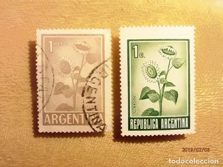 ARGENTINA - FLORA - GIRASOL. (Sellos - Extranjero - América - Argentina)