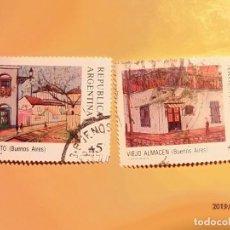 Sellos: ARGENTINA - BUENOS AIRES - PINTURA - CAMINITO Y VIEJO ALMACÉN.. Lote 151422158
