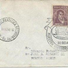 Sellos: 1948. ARGENTINA. MATASELLOS/POSTMARK. MUESTRA HISTÓRICA Y FILATÉLICA. HISTORIA DEL CORREO. VER FOTOS. Lote 151520198
