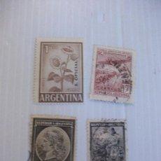Sellos: LOTE DE 14 SELLOS DE ARGENTINA , ANTIGUOS. TEMAS VARIOS, AVION, ETC. Lote 151669666