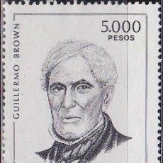Sellos: 1980 - ARGENTINA - ALMIRANTE GUILLERMO BROWN - YVERT 1431. Lote 152562166