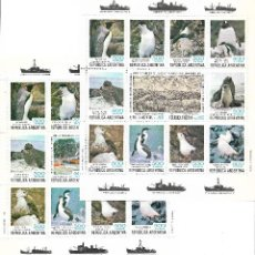 Sellos: ARGENTINA. DOS HOJAS BLOQUES DEL TEMA FAUNA (AVES)IVERT HB 25/26**. Lote 153095286